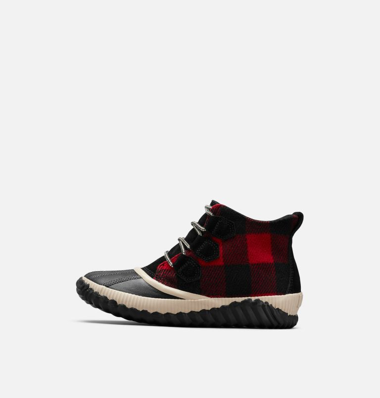 OUT N ABOUT™ PLUS | 010 | 6.5 Women's Out 'N About™ Plus Boot, Black, Red Plaid, medial