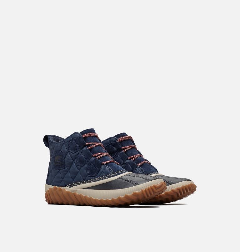 OUT N ABOUT™ PLUS | 464 | 10.5 Women's Out 'N About™ Plus Boot, Collegiate Navy, Quilted, 3/4 front
