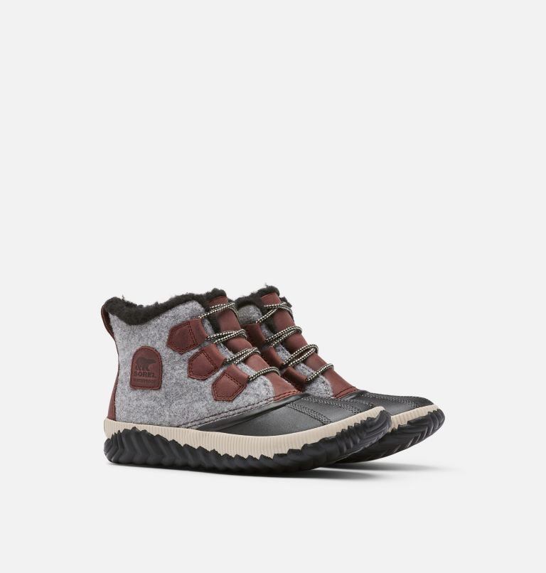 OUT N ABOUT™ PLUS | 628 | 6 Women's Out 'N About™ Plus Boot, Redwood, Felt, 3/4 front
