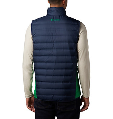 Men's Collegiate Lake 22™ Reversible Vest - Notre Dame CLG Lake 22™ Reversible Vest | 430 | L, ND - Coll Navy, Fuse Green, back