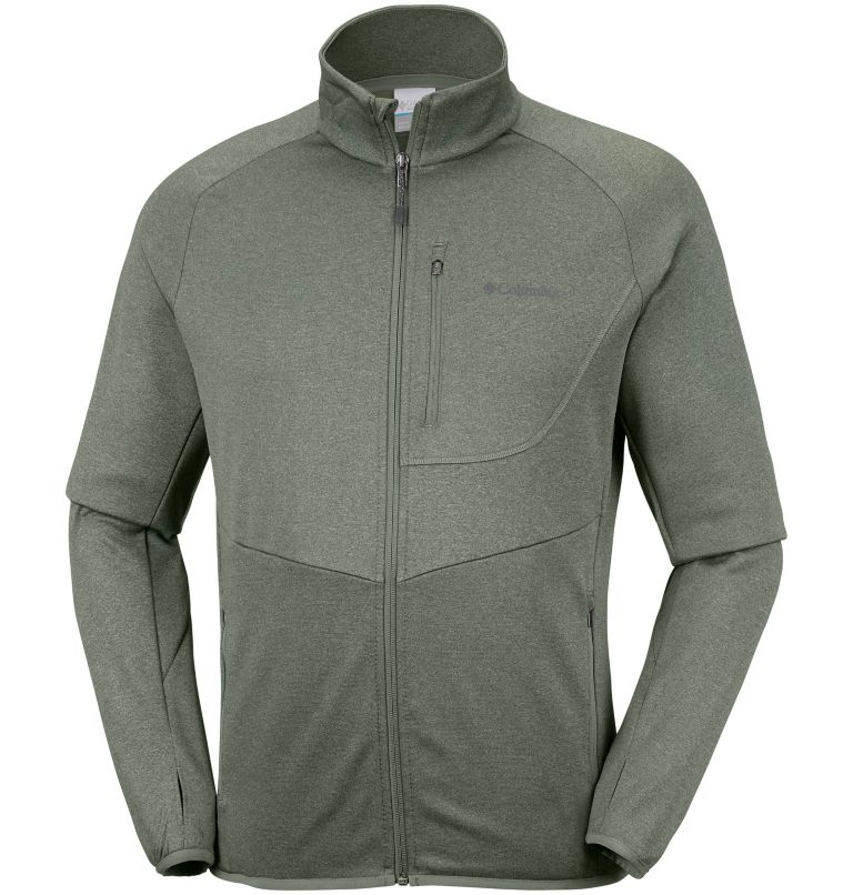 Drammen Point™ Full Zip Fleece | 316 | S Men's Drammen Point™ Full Zip Fleece, Cypress Heather, front