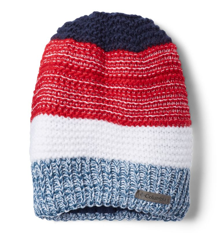 Gyroslope™ II Beanie | 613 | O/S Youth Gyroslope™ II Beanie, Mountain Red, Collegiate Navy, front