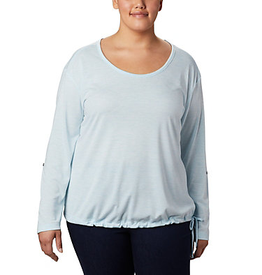 Women's Kickin It™ Solid Pullover - Plus Size Kickin It™ Solid Pullover | 544 | 1X, Spring Blue, front