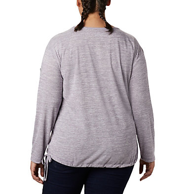 Women's Kickin It™ Solid Pullover - Plus Size Kickin It™ Solid Pullover | 544 | 1X, Plum Purple, back