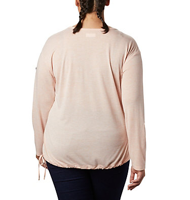 Women's Kickin It™ Solid Pullover - Plus Size Kickin It™ Solid Pullover | 544 | 1X, Peach Cloud, back