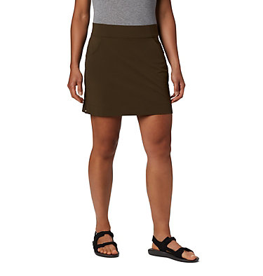 Women's Anytime Casual™ Stretch Skort Anytime Casual™ Strt Skort | 464 | L, Olive Green, front