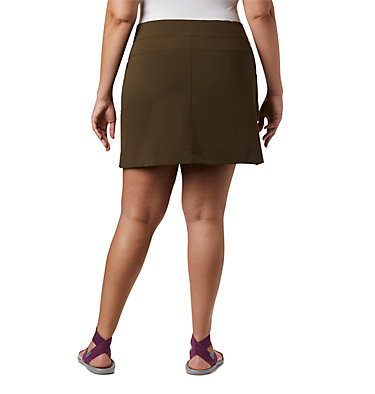 Women's Anytime Casual™ Stretch Skort - Plus Size Anytime Casual™ Strt Skort | 464 | 1X, Olive Green, back