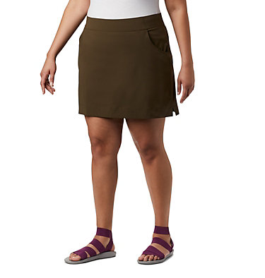 Women's Anytime Casual™ Stretch Skort - Plus Size Anytime Casual™ Strt Skort | 464 | 1X, Olive Green, front