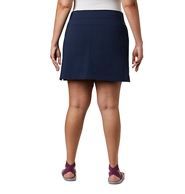 Women's Anytime Casual™ Stretch Skort - Plus Size Anytime Casual™ Strt Skort | 464 | 1X, Collegiate Navy, back