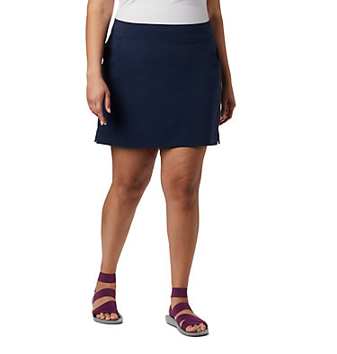 Women's Anytime Casual™ Stretch Skort - Plus Size Anytime Casual™ Strt Skort | 464 | 1X, Collegiate Navy, front