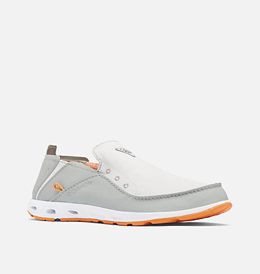 Men's Bahama™ Vent PFG Shoe - Wide BAHAMA™ VENT PFG WIDE | 063 | 10, Grey Ice, Light Orange, 3/4 front