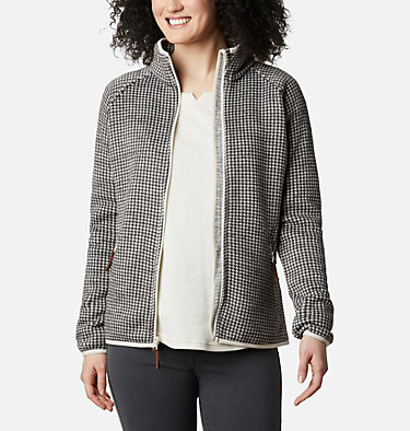 Women's Chillin™ Fleece Chillin™ Fleece Non Hooded | 466 | XS, Chalk Small Houndstooth, front