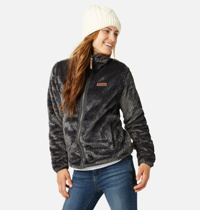 Fire Side™ II Sherpa FZ | 011 | M Women's Fire Side™ II Sherpa Full Zip Fleece, Shark, front