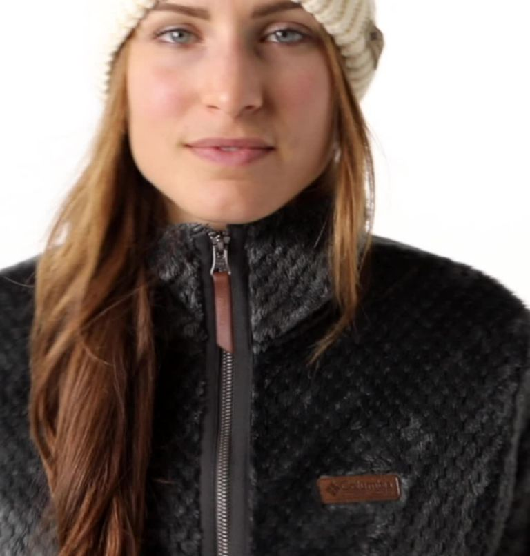 Fire Side™ II Sherpa FZ | 011 | S Women's Fire Side™ II Sherpa Full Zip Fleece, Shark, video