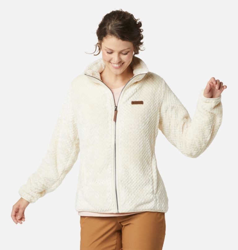 Fire Side™ II Sherpa FZ | 191 | S Women's Fire Side™ II Sherpa Full Zip Fleece, Chalk, front