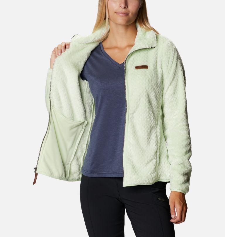 Fire Side™ II Sherpa FZ | 313 | XS Women's Fire Side™ II Sherpa Full Zip Fleece, Light Lime, a3
