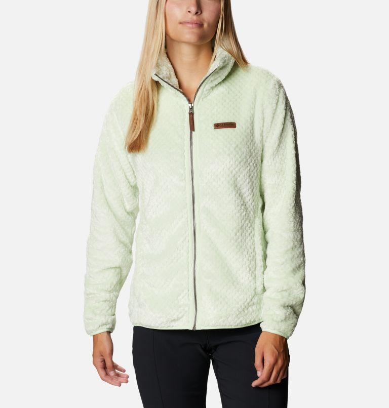 Fire Side™ II Sherpa FZ | 313 | XS Women's Fire Side™ II Sherpa Full Zip Fleece, Light Lime, front