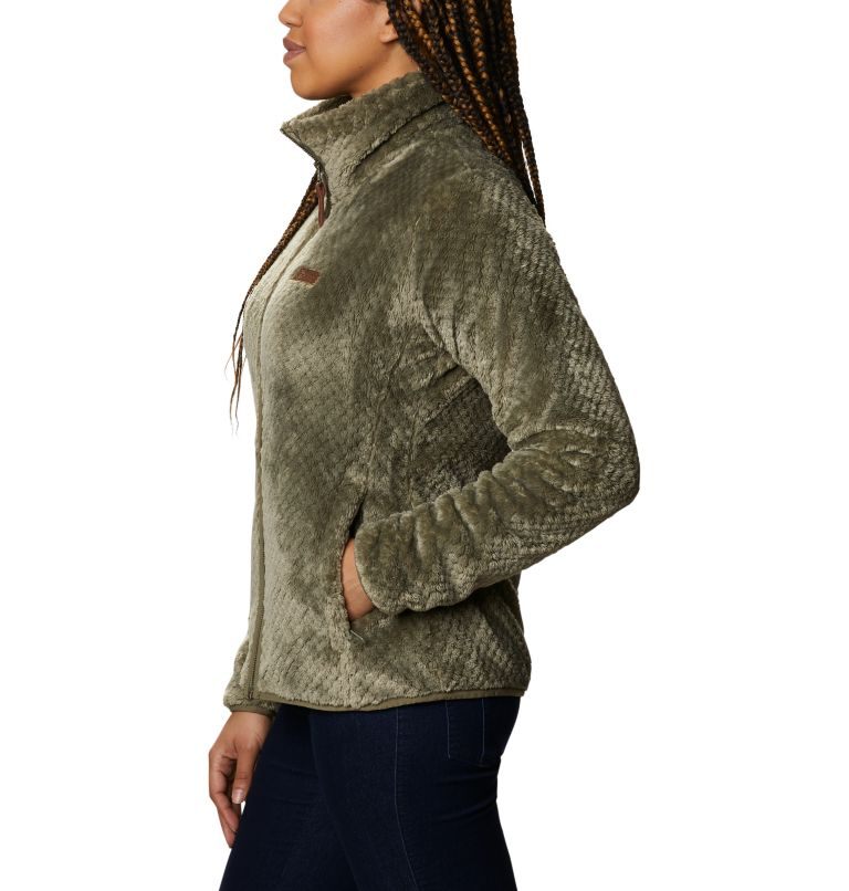 Fire Side™ II Sherpa FZ | 397 | S Women's Fire Side™ II Sherpa Full Zip Fleece, Stone Green, a1