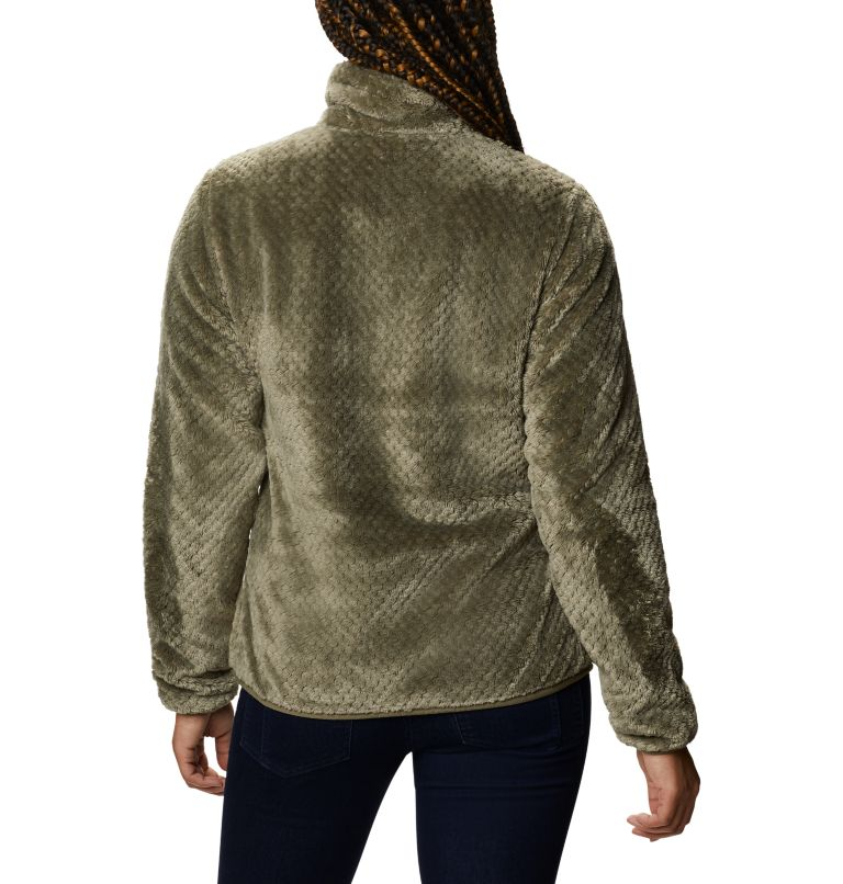 Fire Side™ II Sherpa FZ | 397 | S Women's Fire Side™ II Sherpa Full Zip Fleece, Stone Green, back