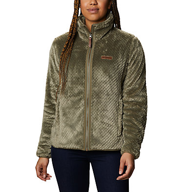 Women's Fire Side™ II Sherpa Full Zip Fleece Fire Side™ II Sherpa FZ | 671 | L, Stone Green, front