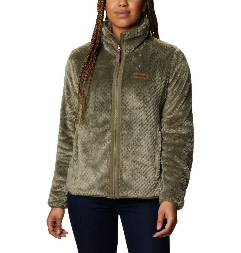 Fire Side™ II Sherpa FZ | 397 | S Women's Fire Side™ II Sherpa Full Zip Fleece, Stone Green, front