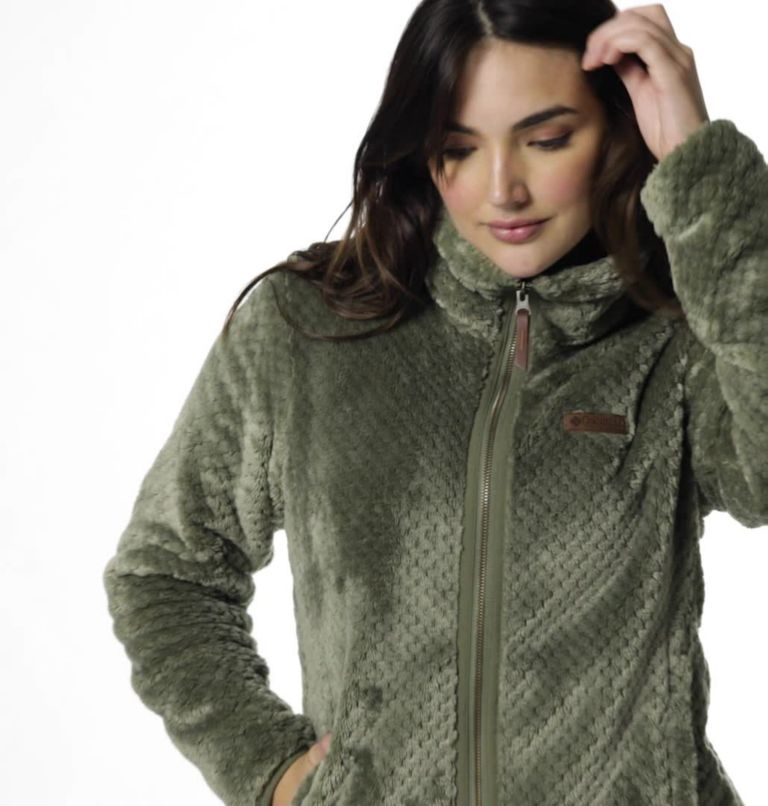 Fire Side™ II Sherpa FZ | 397 | S Women's Fire Side™ II Sherpa Full Zip Fleece, Stone Green, video