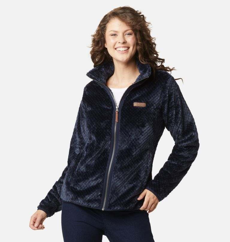 Fire Side™ II Sherpa FZ | 472 | XL Women's Fire Side™ II Sherpa Full Zip Fleece, Dark Nocturnal, front