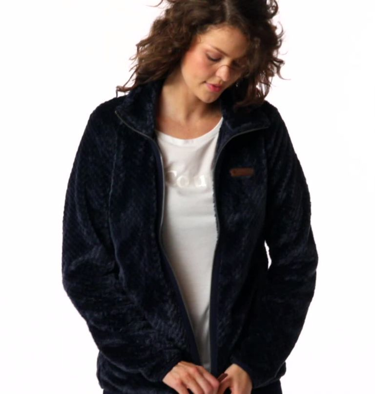 Fire Side™ II Sherpa FZ | 472 | XL Women's Fire Side™ II Sherpa Full Zip Fleece, Dark Nocturnal, video