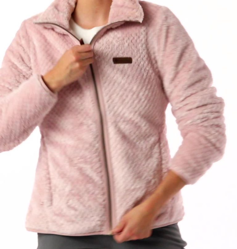 Fire Side™ II Sherpa FZ | 618 | M Women's Fire Side™ II Sherpa Full Zip Fleece, Mineral Pink, video