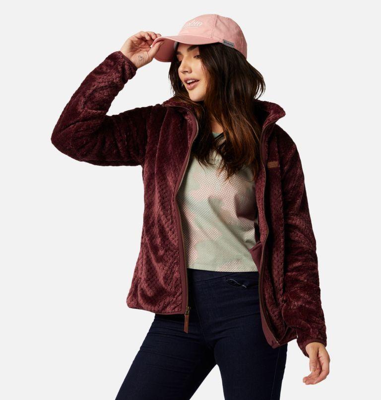Fire Side™ II Sherpa FZ | 671 | XS Women's Fire Side™ II Sherpa Full Zip Fleece, Malbec, a4