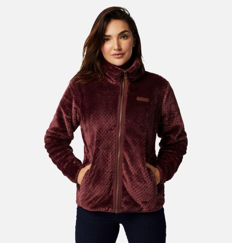 Fire Side™ II Sherpa FZ | 671 | XS Women's Fire Side™ II Sherpa Full Zip Fleece, Malbec, front