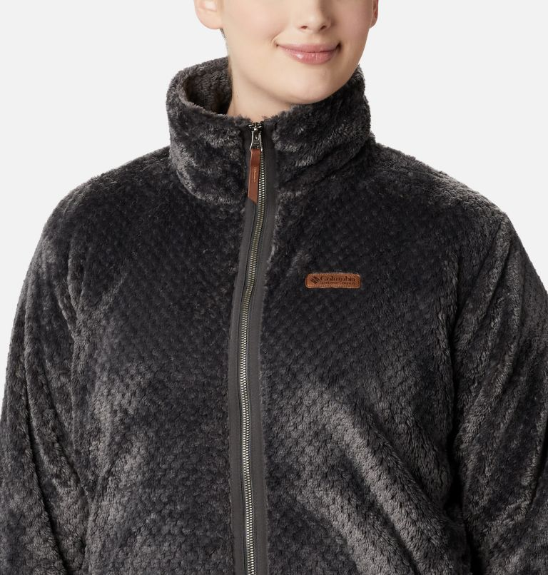 Fire Side™ II Sherpa FZ | 011 | 2X Women's Fire Side™ II Plush Full Zip Fleece - Plus Size, Shark, a1