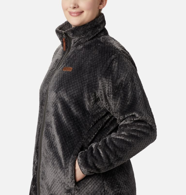Fire Side™ II Sherpa FZ | 011 | 2X Women's Fire Side™ II Plush Full Zip Fleece - Plus Size, Shark, a2