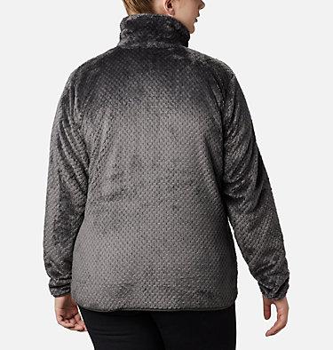 Women's Fire Side™ II Plush Full Zip Fleece - Plus Size Fire Side™ II Sherpa FZ | 618 | 1X, Shark, back