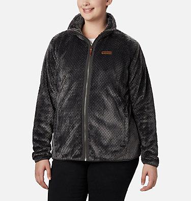 Women's Fire Side™ II Plush Full Zip Fleece - Plus Size Fire Side™ II Sherpa FZ | 618 | 1X, Shark, front