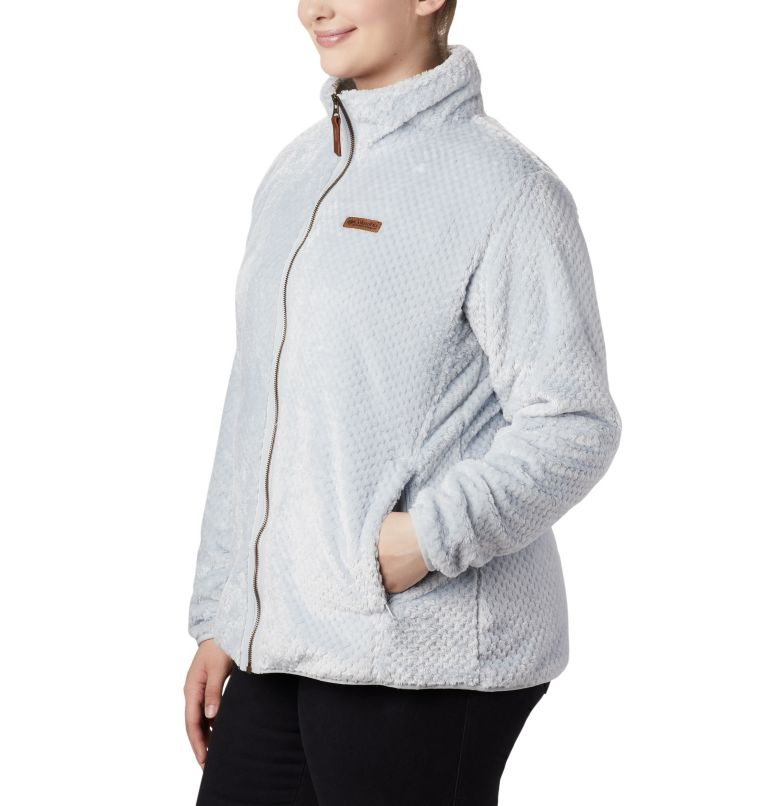 Fire Side™ II Sherpa FZ | 031 | 1X Women's Fire Side™ II Plush Full Zip Fleece - Plus Size, Cirrus Grey, a2