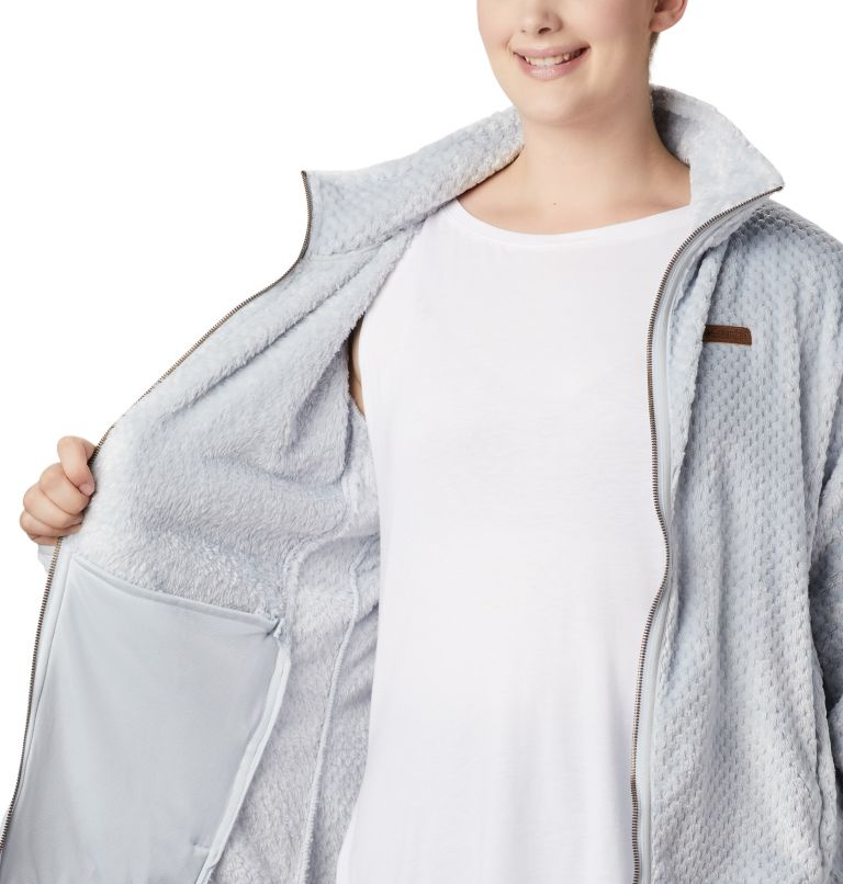 Fire Side™ II Sherpa FZ | 031 | 1X Women's Fire Side™ II Plush Full Zip Fleece - Plus Size, Cirrus Grey, a3