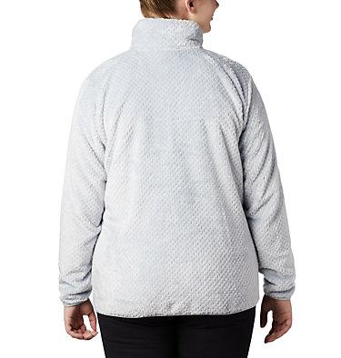 Women's Fire Side™ II Plush Full Zip Fleece - Plus Size Fire Side™ II Sherpa FZ | 618 | 1X, Cirrus Grey, back