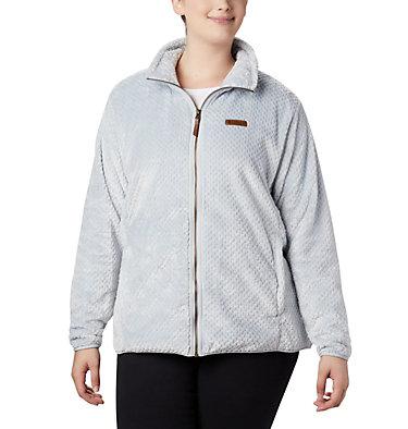 Women's Fire Side™ II Plush Full Zip Fleece - Plus Size Fire Side™ II Sherpa FZ | 618 | 1X, Cirrus Grey, front