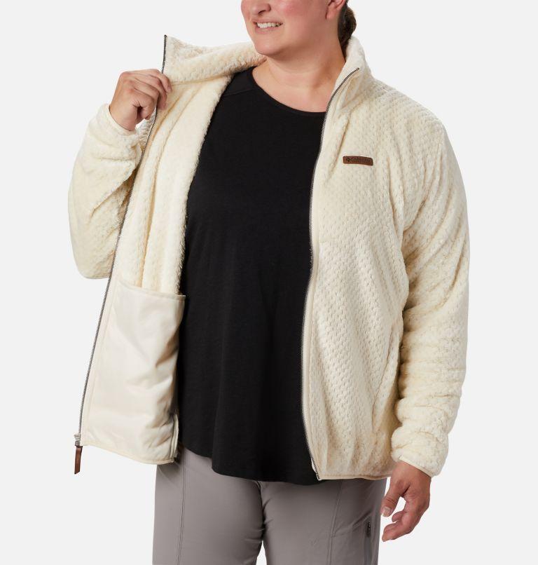 Fire Side™ II Sherpa FZ | 191 | 1X Women's Fire Side™ II Plush Full Zip Fleece - Plus Size, Chalk, a3