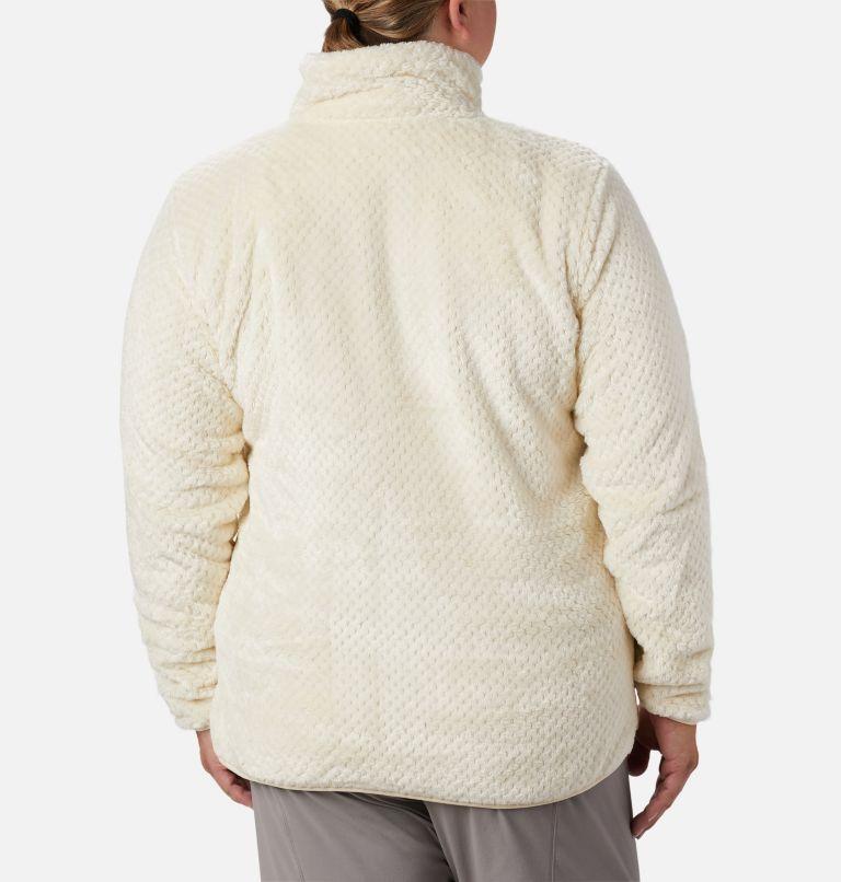 Fire Side™ II Sherpa FZ | 191 | 1X Women's Fire Side™ II Plush Full Zip Fleece - Plus Size, Chalk, back