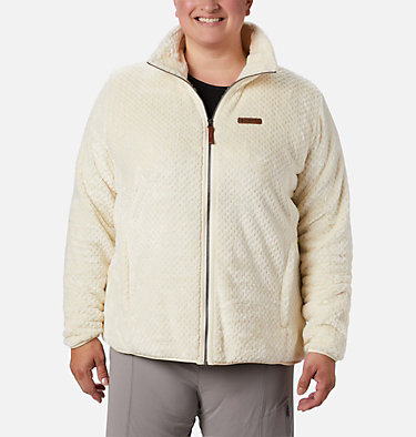 Women's Fire Side™ II Plush Full Zip Fleece - Plus Size Fire Side™ II Sherpa FZ | 618 | 1X, Chalk, front
