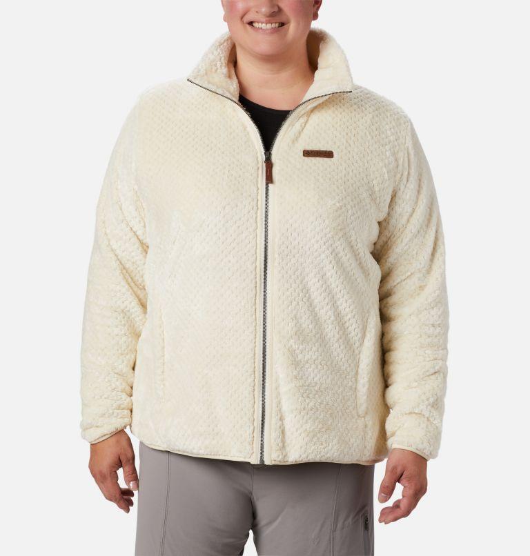 Fire Side™ II Sherpa FZ | 191 | 1X Women's Fire Side™ II Plush Full Zip Fleece - Plus Size, Chalk, front