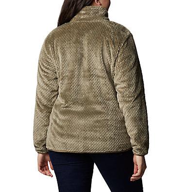 Women's Fire Side™ II Plush Full Zip Fleece - Plus Size Fire Side™ II Sherpa FZ | 618 | 1X, Stone Green, back