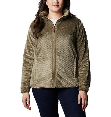 Women's Fire Side™ II Plush Full Zip Fleece - Plus Size Fire Side™ II Sherpa FZ | 618 | 1X, Stone Green, front