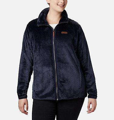 Women's Fire Side™ II Plush Full Zip Fleece - Plus Size Fire Side™ II Sherpa FZ | 618 | 1X, Dark Nocturnal, front