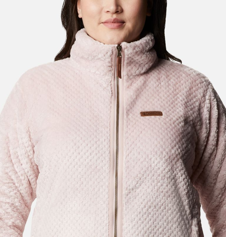 Fire Side™ II Sherpa FZ | 618 | 1X Women's Fire Side™ II Plush Full Zip Fleece - Plus Size, Mineral Pink, a2