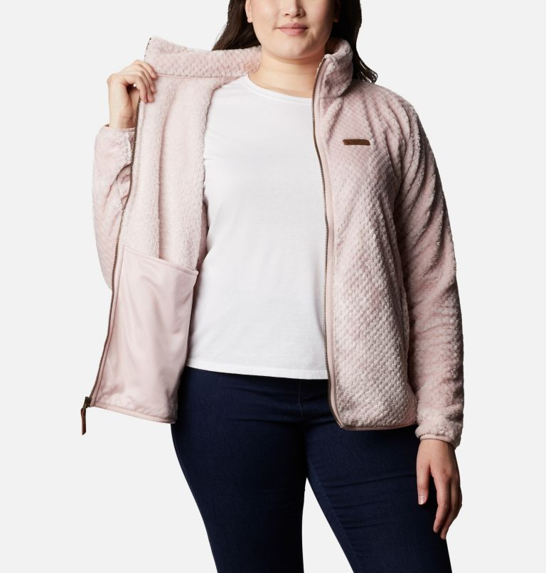 Fire Side™ II Sherpa FZ | 618 | 1X Women's Fire Side™ II Plush Full Zip Fleece - Plus Size, Mineral Pink, a3