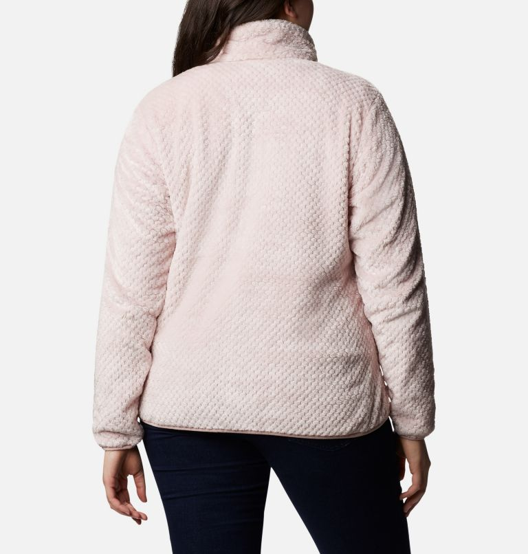 Fire Side™ II Sherpa FZ | 618 | 1X Women's Fire Side™ II Plush Full Zip Fleece - Plus Size, Mineral Pink, back