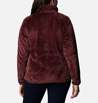 Women's Fire Side™ II Plush Full Zip Fleece - Plus Size Fire Side™ II Sherpa FZ | 618 | 1X, Malbec, back